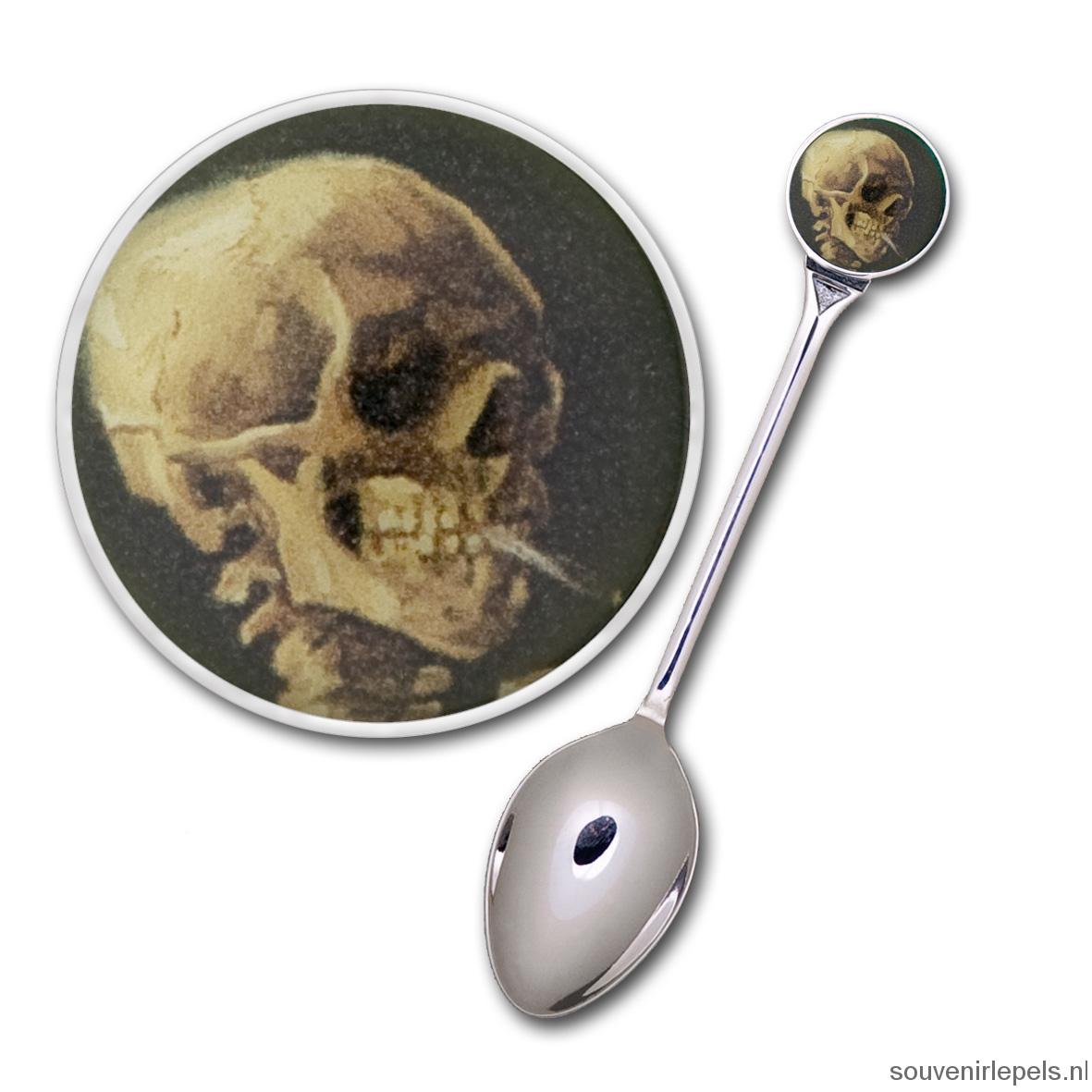 Lepel Vincent van Gogh - Skull of a skeleton with a burning cigarette